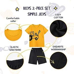 SUNFEID Baby Boys Summer Clothing Sets - Cotton