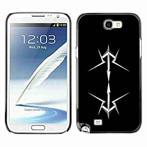 Planetar® ( Abstract ) Samsung Galaxy Note 2 II / N7100 Fundas Cover Cubre Hard Case Cover