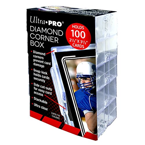 Ultra Pro Diamond Corner Box to hold 100+ Sports Trading Cards (10 count pack) by Ultra Pro