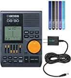 BOSS DB-90 Metronome Bundle with Blucoil 9V Power Supply AC Adapter with USB Plug and 5-Pack of Reusable Cable Ties