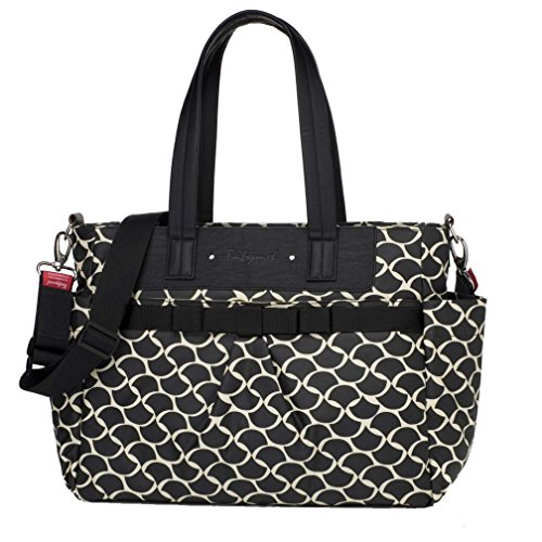 Babymel Cara Tote Diaper Bag - Black Wave