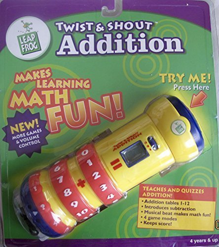 (Twist & Shout Leap Frog Electronic ADDITION Hand Held MATH AID Teaches & Quizzes w MUSICAL BEAT Makes Math Fun!)