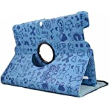 "cover case 3 Edison Bq Tablet 10.1 ""Quad Core. Pivotantes 360 couleur bleue DESSINS"