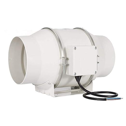 STERR Extractor en l/ínea con ventilador de conductos silenciosos con temporizador 100 mm DFA100T