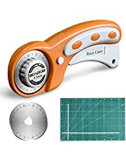 Cortador Rotativo con Cuchillas Rotatorias 45 mm,Corte de Autocuración Mat 3045CM de Doble Cara Alfombra Giratoria Profesional para Coser Acolchado de Piel de Tela y Más BO004