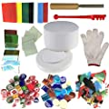 Microwave Kiln and DIY Fusing Glass Jewelry Set - Professional Simple Making DIY Jewelry Glass Fusing Tools Set