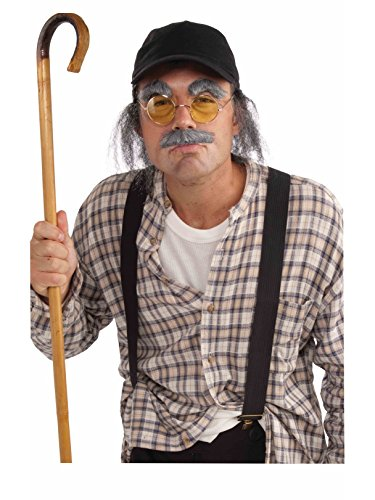 Forum Novelties Grumpy Old Man Instant Costume Kit, Gray -
