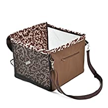 PAWZ Road Dog Booster Seat For Car Pet Seat Belt Bag with Cushion For Small Animals Brown