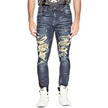 G by GUESS Men's Foxhole Destroyed Modern Skinny Jeans