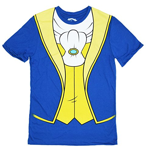 Beast Costume Man (Disney Beauty And The Beast Prince Costume Men's T-shirt (Medium,)
