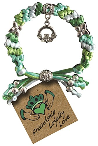 Cathedral Art EY118 Claddagh Satin Cord Bracelet, (Irish Anniversary Gifts)