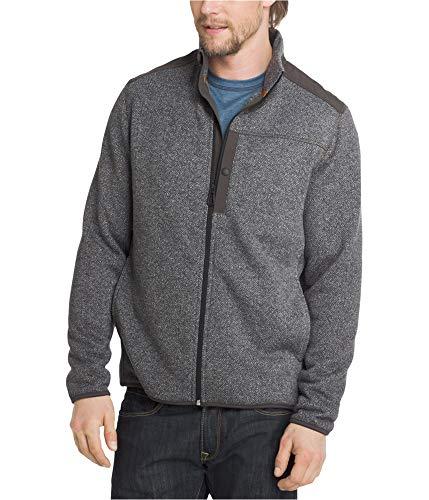 Herringbone Mens Bass - G.H. Bass & Co. Mens Herringbone Sweater Jacket, Grey, XXX-Large