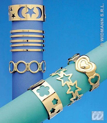 Gipsy Costume Accessories (Forearm Bracelet 6 Styles Asstd Gipsy Jewellery for Fancy Dress Costumes Accessories Accessory by WIDMANN S.R.L.)