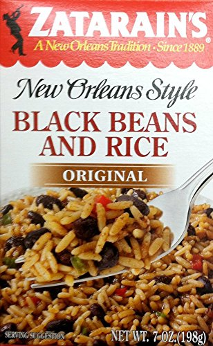 Zatarain's Black Beans and Rice Mix, 7 Ounces - Pack of 4