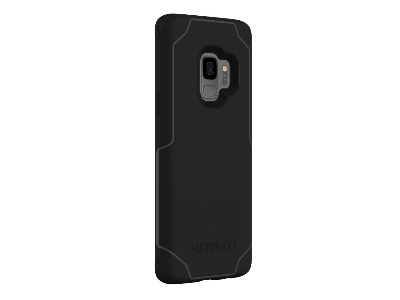 low priced af46d 44256 Griffin Survivor Strong Samsung Galaxy S9 Case with Slim and  Shock-Absorbing Design and Qi Charge Compatible - Black/Dark Grey