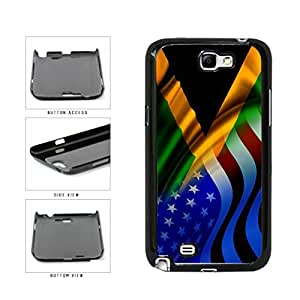 Jamaica and USA Mixed Flag Plastic Phone Case Back Cover Samsung Galaxy Note II 2 N7100