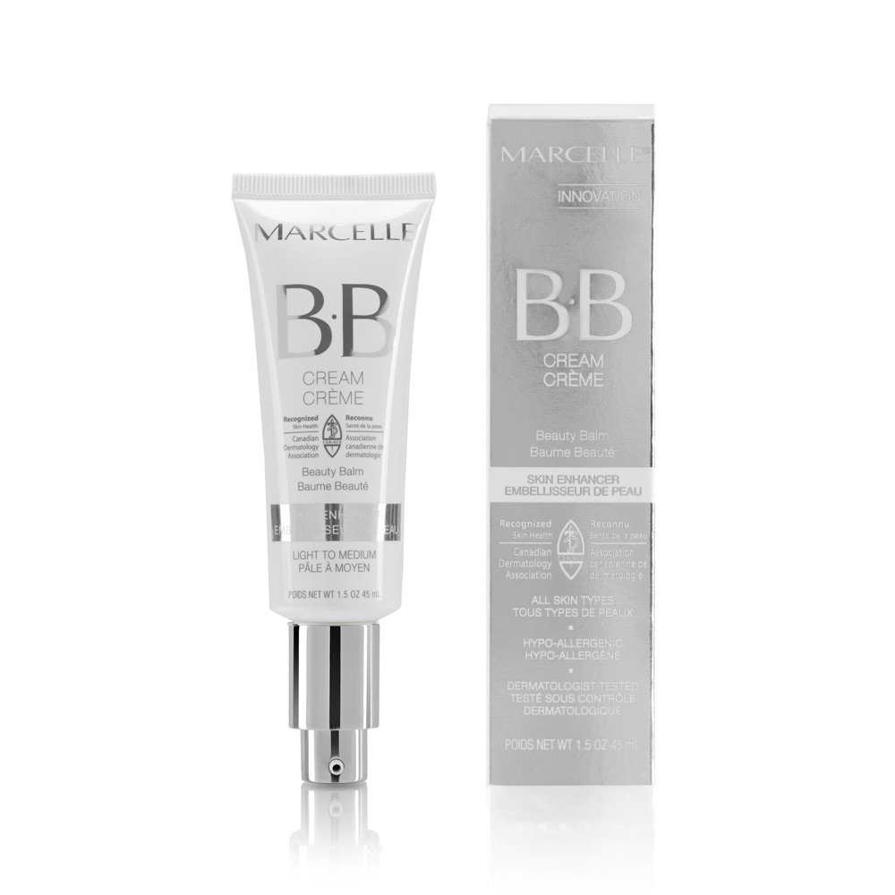 Marcelle BB Cream Beauty Balm, Light to Medium, Hypoallergenic and Fragrance-Free, 1.5 fl oz