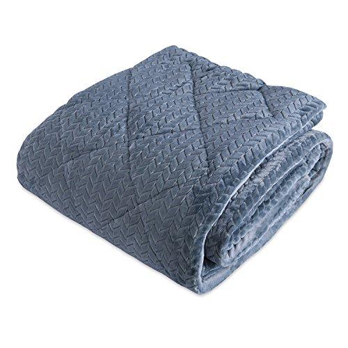 Berkshire Blanket Braided VelvetLoft Reversible Comforter, K