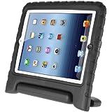 Afranker Ipad 2/3/4 Shockproof Case Light Weight Kids Case Super Protection Cover Handle Stand Case for Kids Children for Apple Ipad 2/3/4 Black