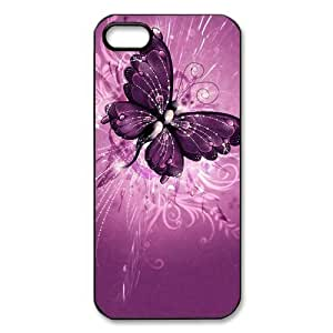 Butterfly Flower Custom Printed Design Durable Case Cover for Iphone 5 5S