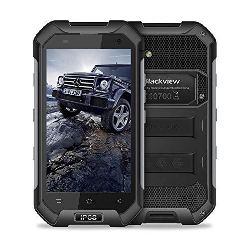 Blackview Unlocked Cell Phone, BV6000S Rugged Smartphone - 4G Android 7.0-4.7''HD IP68 Waterproof Dual SIM Phone - 4500mAh Battery 2MP+8MP - 2GB RAM+16GB ROM with NFC/GPS/GLONASS/PTT/SOS (Black) (Rugged Phone Mobile)