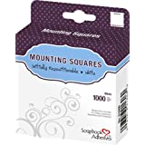 3L 1/2-Inch by-1/2-Inch 1000-Package Repositionable Mounting Squares, White