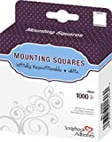 Photo : 3L Repositionable Permanent Mounting Squares, 1/2-Inch x 1/2-Inch, 1000pk, White