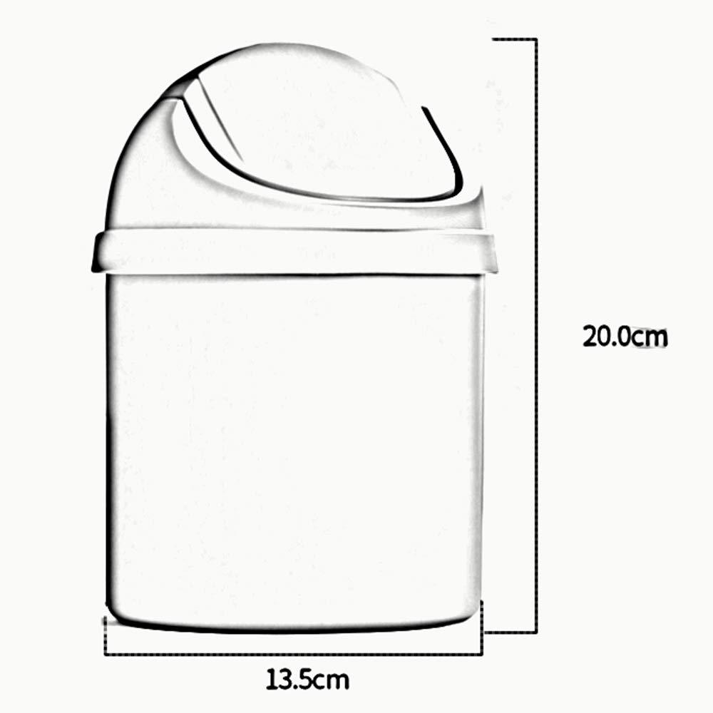 LJHA lajitong Cubo de de Cubo Basura de Escritorio, Cubo de Basura con Tapa plástica Mesa de Dormitorio Mini Cesto de Papel (Color : Azul, Tamaño : 2 Trash cans) 3cd0c1