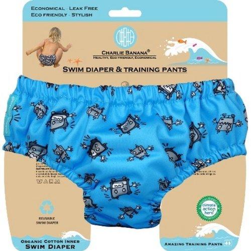 Charlie Banana® Swim Diaper & Training Pants - Robot Boy - S 889514 1401200|S