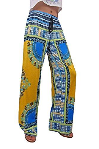 Pantaloni Sciolto Vita Palazzo Elastica Style Boho Pattern Pantaloni Lanterna Aladin Hippie Stil Stampato Pantaloni Di Etnico Baggy Hipster Pantaloni Donna Vintage 1 Stile Eleganti Festa Ragazze Pantaloni n8wfOTfaqx