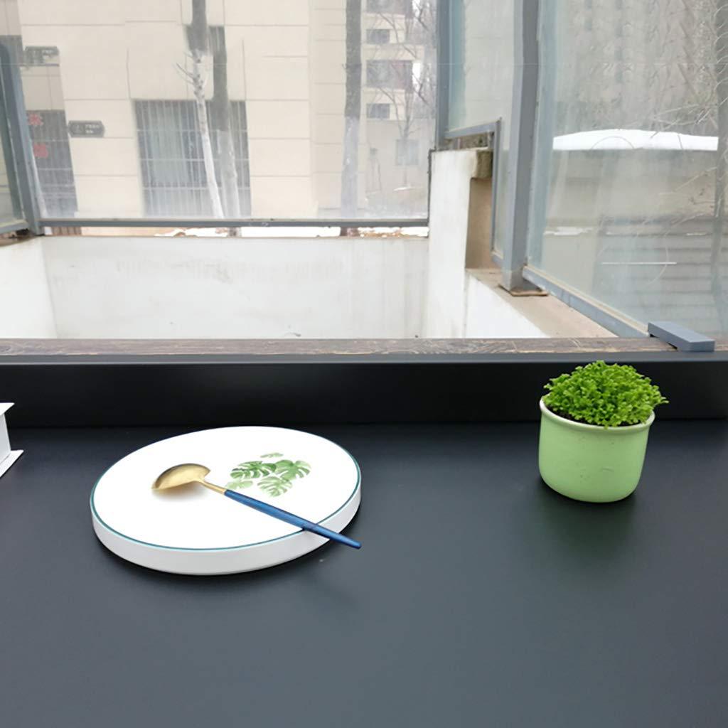 Balkong barbord, utomhus inomhus hopfällbart hängande bord balkong räckbord aluminiumlegering hängande modern hushåll bar (storlek: 80 x 40 cm) Svart