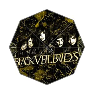 2014 New Novelty Item Rain Sunny Umbrella black Veil Brides 43.5 inch Auto Foldable Umbrella Surprise Prensent for Kid Friend