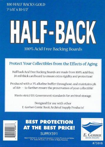 Half-Back Gold Comic Book Backing Boards 7 5/8