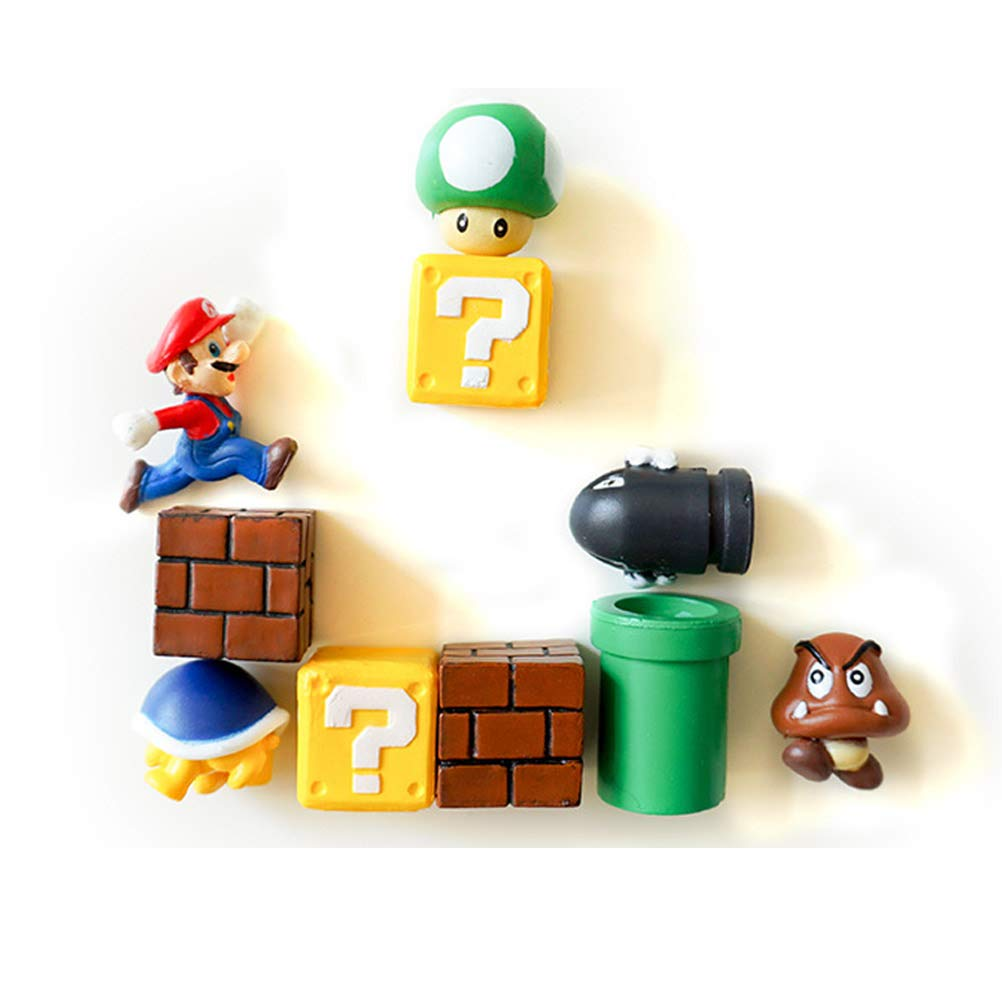 New Classic 3d Super Mario Aimant de réfrigérateur Autocollant réfrigérateur Décoration CLKJCAR
