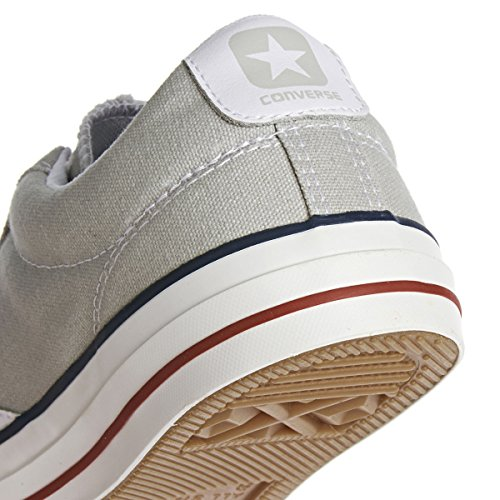 Converse Star Player Zapatillas, Unisex Adulto Gris (Light Grey/Red Line)