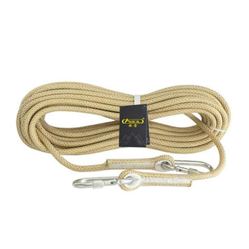 B TLMYDD Corde à Grimper pour la Descente en Rappel Corde à Grimper matériel d'escalade diamètre 10.5 mm Cordes (Couleur   B, Taille   20M) 20M