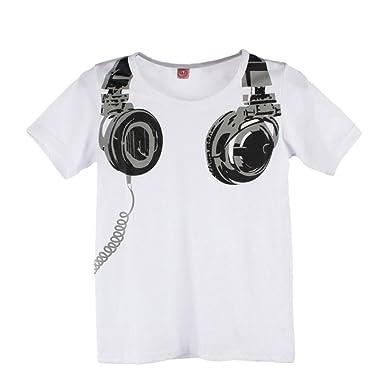 1369f2e2663ed Oyedens Enfants T-Shirt pour Garçons Bébé Enfants Été Tops Manches Courtes  Impression T-