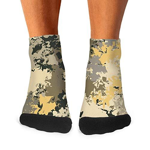 Design Military desert camo background Fashion Men's Sporty Wicking Socks