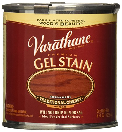 - Varathane 224499 Premium Gel Stain, Half Pint, Traditional Cherry