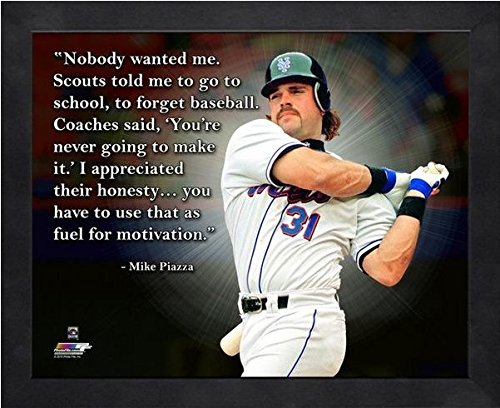 Mike Piazza New York Mets Pro Quotes Photo (Size: 12