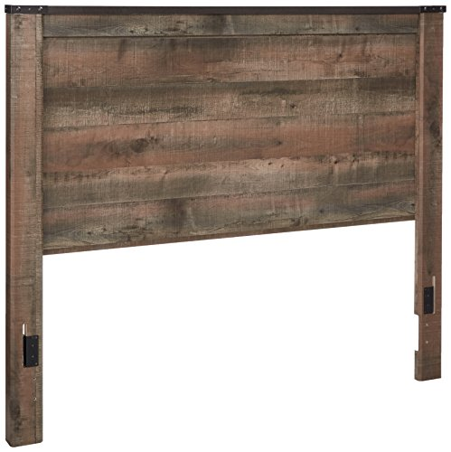 Ashley Furniture Signature Design - Trinell Queen Panel Headboard - Component Piece - Brown (Wood Headboard Bed)