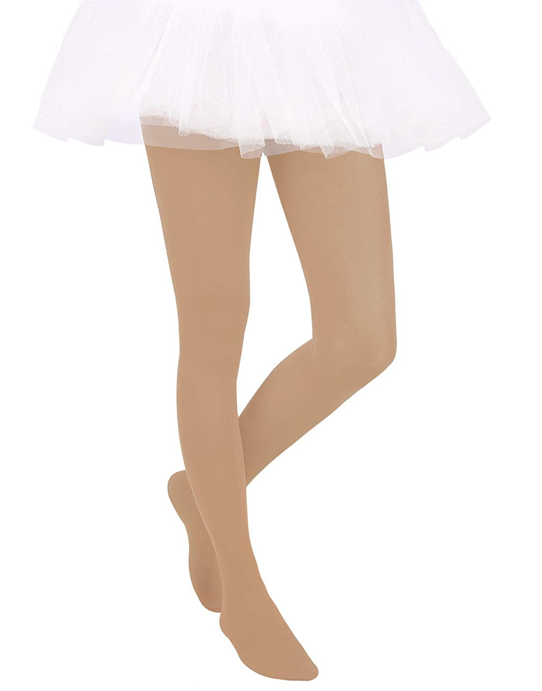 HDE Girls Stockings Microfiber Opaque Footed Kids Tights