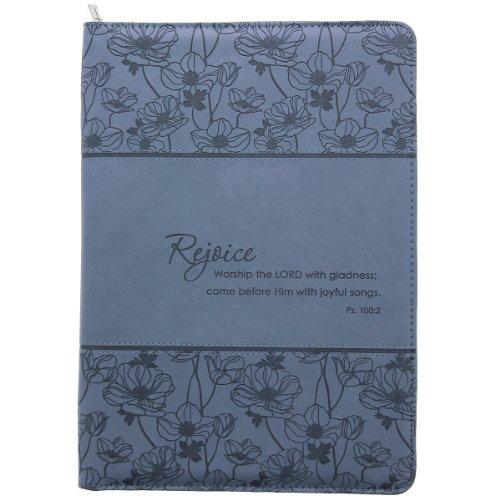 Rejoice-Blue-Legal-Size-Zippered-Portfolio-Psalm-1002