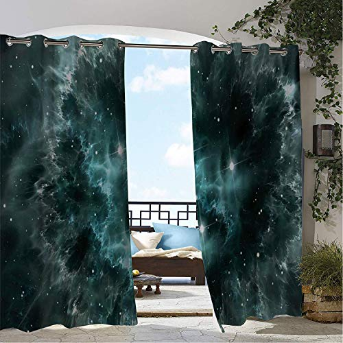 Clear Astoria Crystal (Linhomedecor Gazebo Waterproof Curtains Outer Space Space Nebula in The Space Crystal Star Cluster Galaxy Solar System Cosmos Print Teal Porch Grommet Party Curtain 96 by 72 inch)