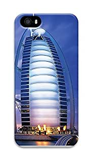 iPhone 5 5S Case Beautiful Dubai Seven Star Hotel 3D Custom iPhone 5 5S Case Cover wangjiang maoyi