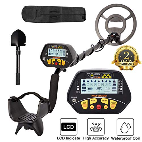 Dnyker Metal Detector High Accuracy Adjustable Waterproof LCD Display Gold Metal Detector with Sensitive Search Coil,Pinpoint Function for Adults and Kids