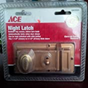 NIGHT LATCH BRASS Misc. Door Locks Apex