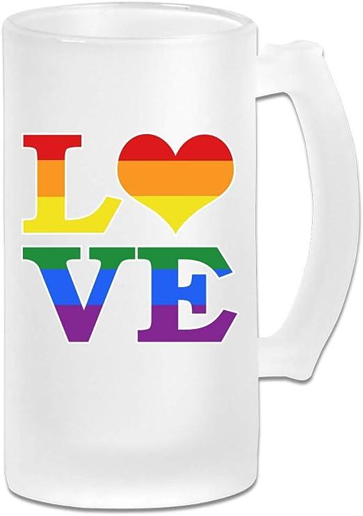 Copa de vino Gay Love Rainbow con forma de corazón y orgullo ...