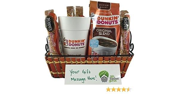 amazoncom dunkin donuts original coffee gift basket grocery gourmet food