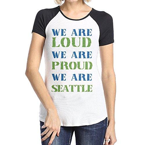 Seattle Sounders Black Woman's Raglan T Shirts For Women